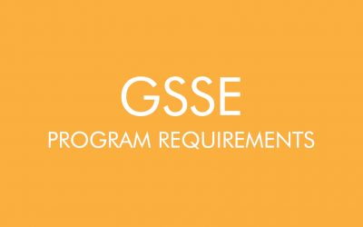 GSSE Program Requirements