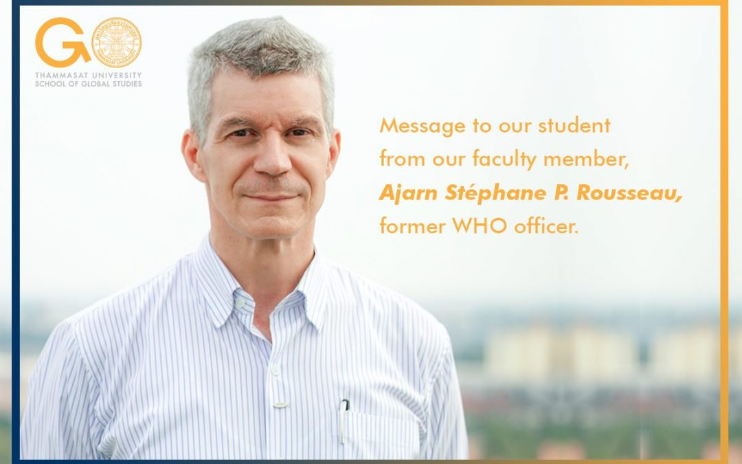 Message to students from Ajarn Stephane regarding COVID-19